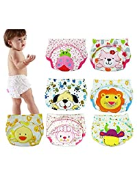 6 Pack Baby Girl Boy Toliet Pee Potty Training Pants Diaper Nappy Underwear