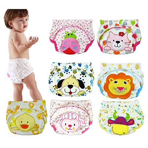 6 Pack Baby Girl Boy Toliet Pee Potty Training Pants Diaper Nappy Underwear L