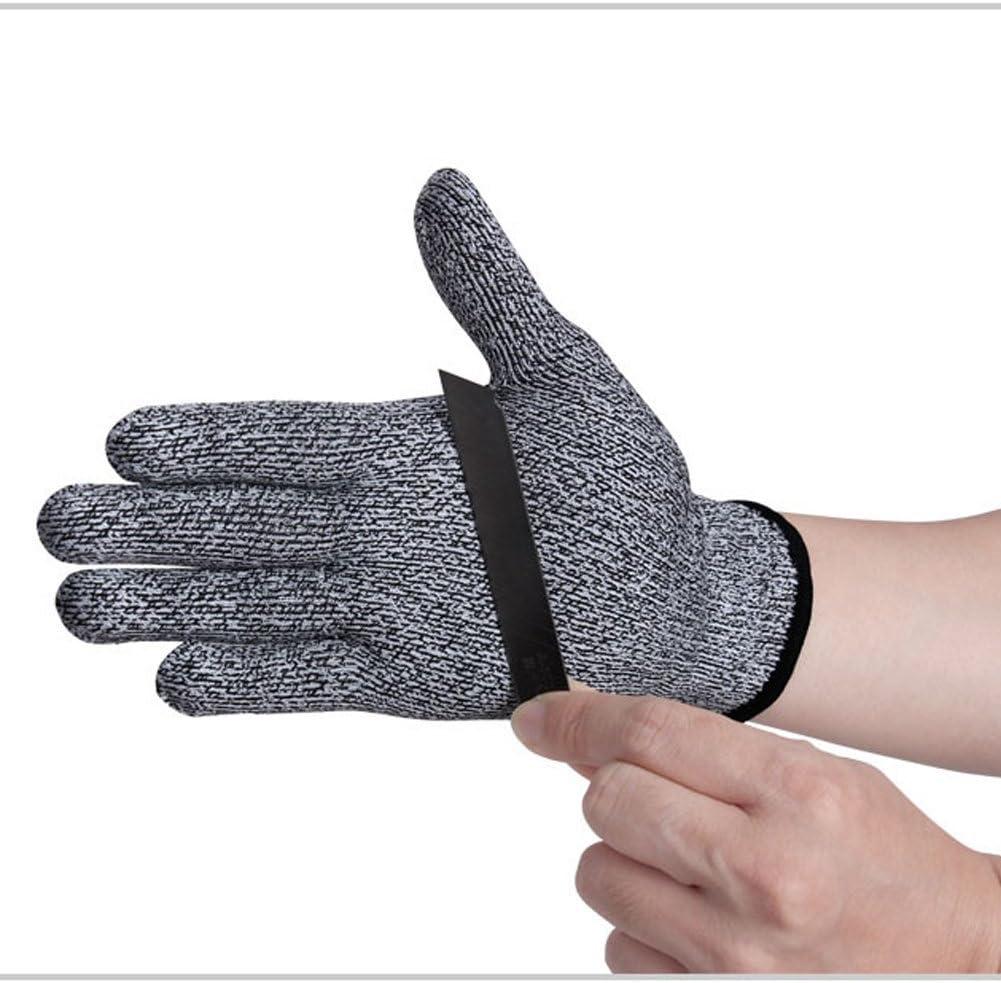 Andyshi haute qualit/é anti Coupe Fil dacier inoxydable r/ésistant antid/érapant ext/érieur r/ésistant aux coupures anti-coupures respirant protection des mains en maille Gants de protection gris