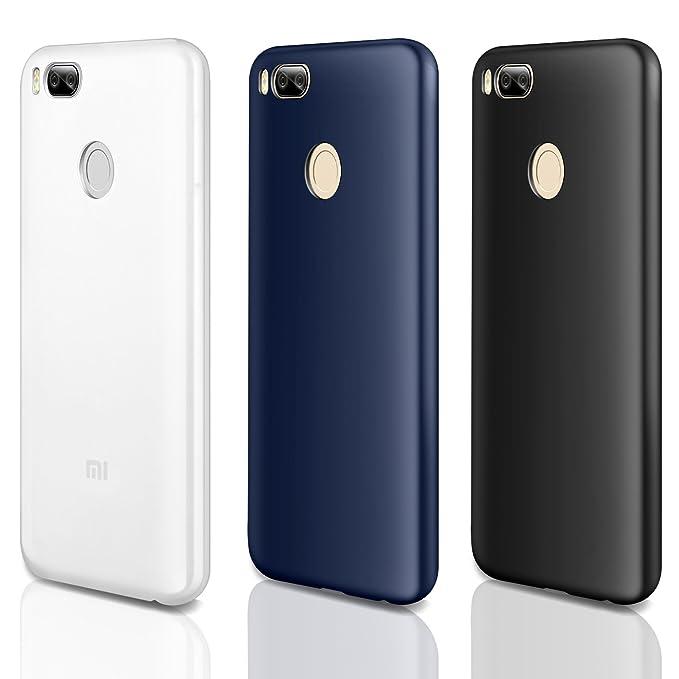 49 opinioni per 3 PCS × Custodia Xiaomi Mi A1 / Mi 5X Cover Silicone , Leathlux [Ultra Sottile]