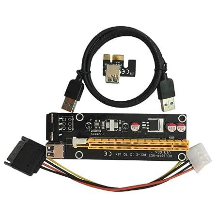 Lightleopard PCI-E PCI Express 1X a 16X Tarjeta Vertical USB ...