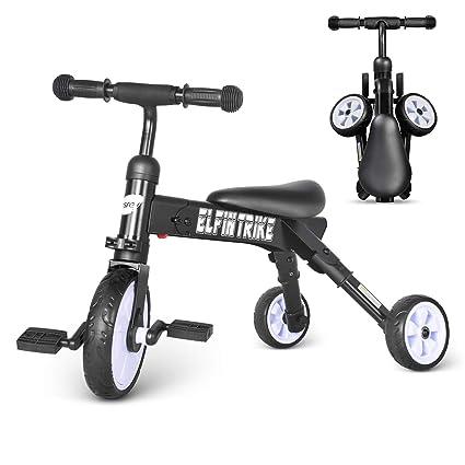 73290bc5544 besrey Kids Tricycle 3 in 1 Baby Walker Trike 3 Wheel Bike for Child - Black