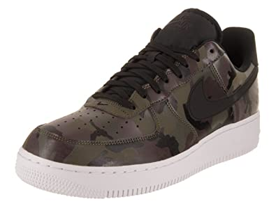 buy popular 0faed 3c217 Image Unavailable. Image not available for. Color  Nike Mens Air Force 1  07  Low Camo Shoes Medium Olive Baroque Brown