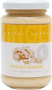 Spiral Foods Organic Minced Ginger 220 g