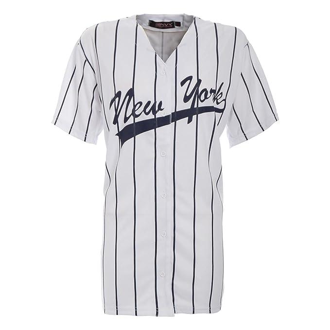 De Rayas Nuevo Universitaria Top Camiseta Béisbol Chicago Americano Mujer nw0ON8PkXZ