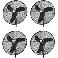 Air King Industrial Grade 3 Speed 30 Inch Oscillating Wall Mount Fan (4 Pack)
