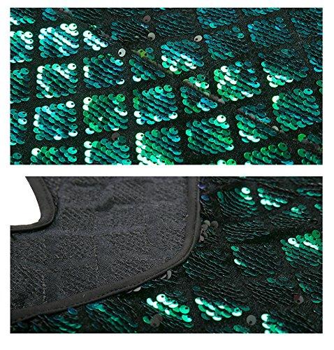 Green de de FOLOBE vestido lentejuelas la de vestido mujer noche fiesta xvqBBC
