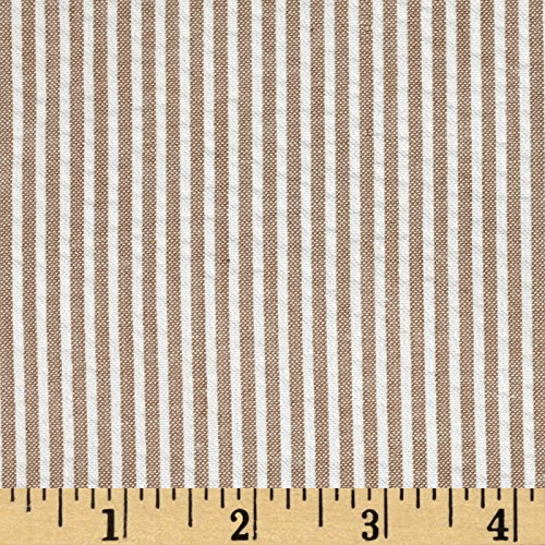 (Carr Textile Regatta Seersucker Tan Fabric By The Yard)