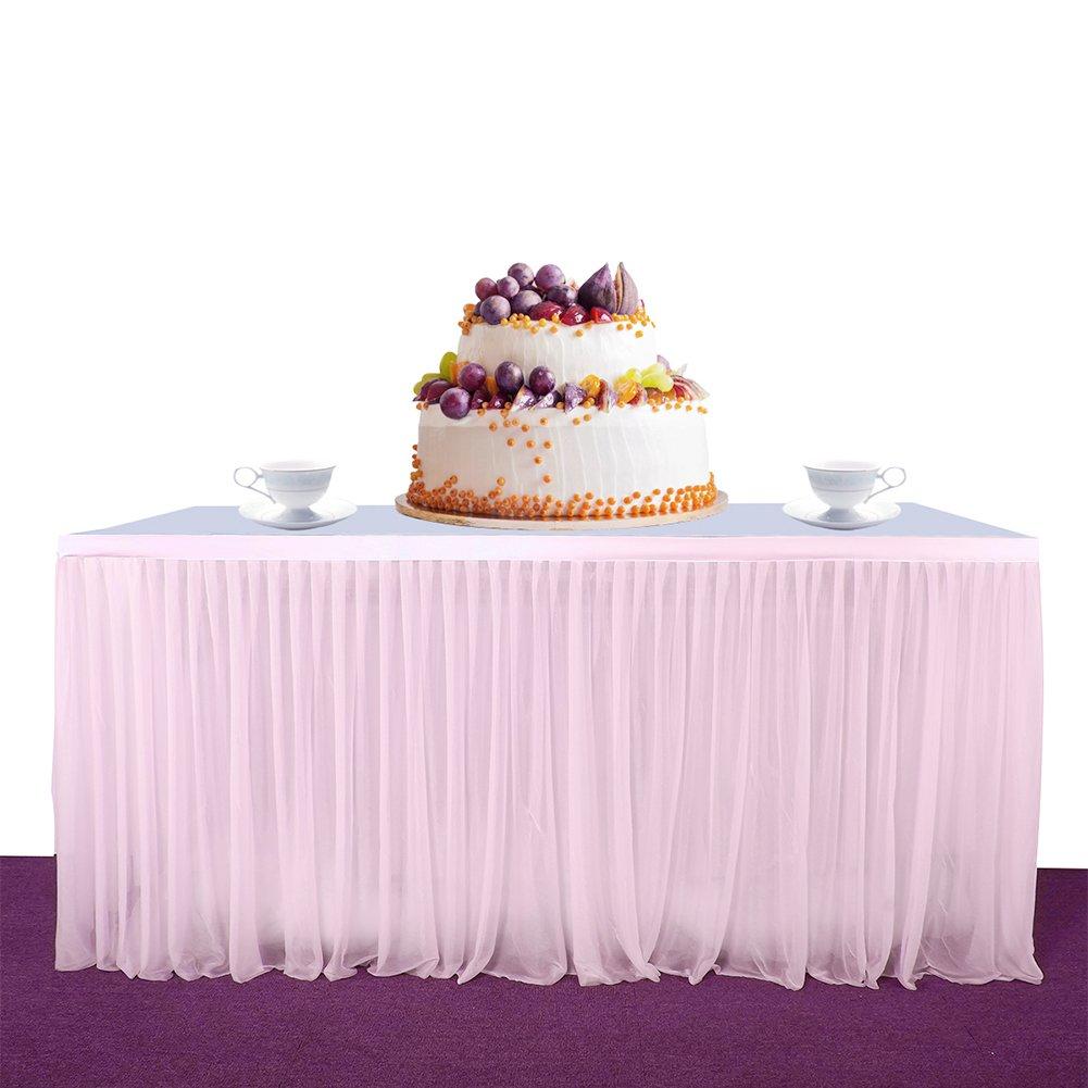 Etbotu High-end Stretch Yarn Elegant Mesh Fluffy Tutu Table Skirt,for Party Wedding Birthday Party Home Decoration