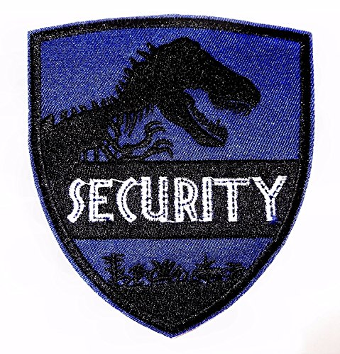 Jurassic Park World Security with T-Rex Embroidered Clothing Patch Size: 4