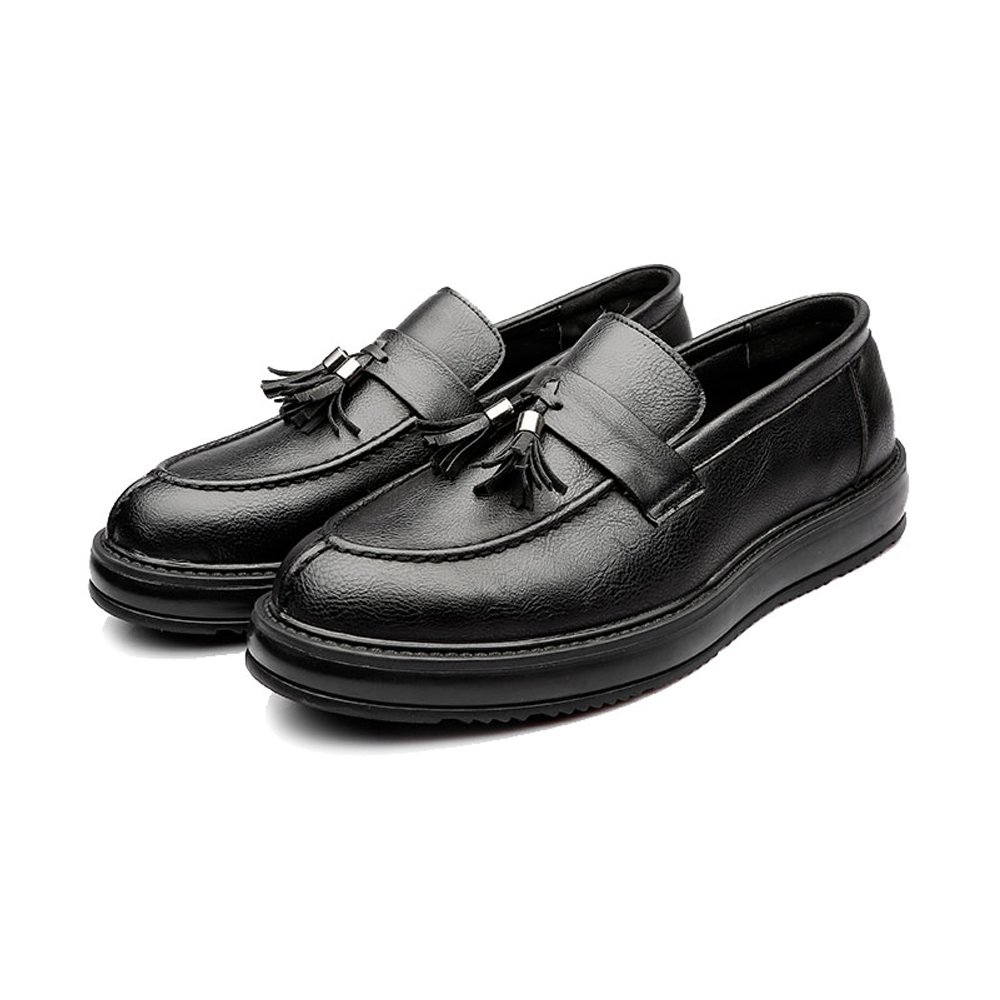 HYF Herren Business PU Lederschuhe Klassische Klassische Klassische Slipper Loafers Quaste Anhänger Dekoration Außensohle Oxfords Atmungsaktiv  f65e9b