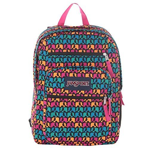 JanSport Big Student Classics Series Backpack – Black Ele Fancy