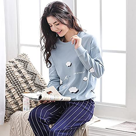 Amazon.com: Blue Stones Autumn Striped Pyjamas Cotton Couple Pajamas Set Women Sleepwear Pajama Sets Pijamas Lover Pyjamas Homewear Clothing: Kitchen & ...