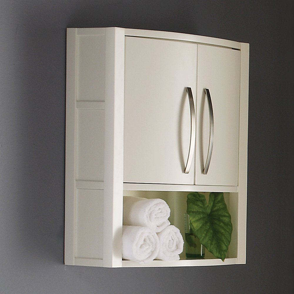 Bathroom wall cabinet white - Decolav 5255 Wht Lola 22 Inch Wall Cabinet White Mounted Bathroom Shelves Amazon Com