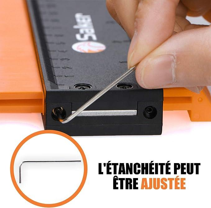 environ 25.40 cm Contour Gauge Duplicateur à verrou À faire soi-même profil copie outil... 10 in
