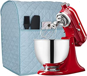 6-8 Quart Kitchen Aid Mixer Cover with Pockets, Kitchen & Dining Small Appliance Organizer Dust Cover for Kitchen Aid Mixers and Extra Accessories TFC634