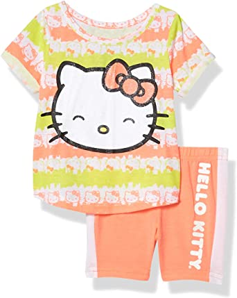 Hello Kitty Girls Bike Short Set