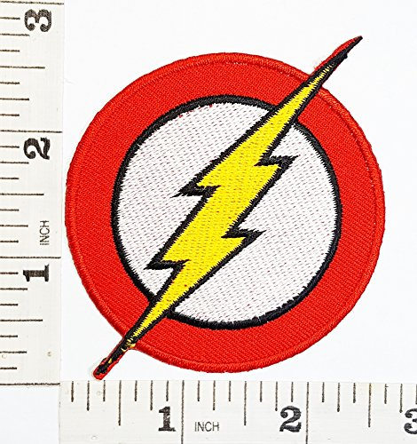 The Flash Logo DC logo Movie logo patch Superhero patch Symbol Jacket T-shirt Patch Sew Iron on Embroidered Sign Badge Costume