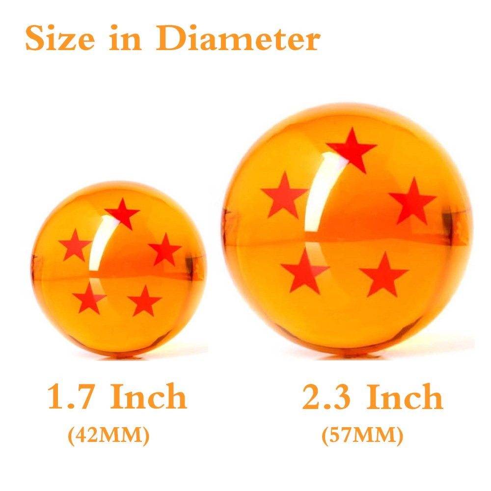 FleurVC 7 pcs Large Star Ball Set with 7pcs Pure Hand-Made Wooden Ball Holders -Red Stars Amber Color Transparent Play Balls(2.3inch) by FleurVC (Image #3)