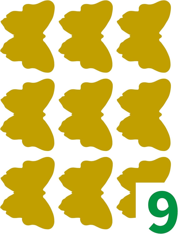 Etiquetas doradas 48x36mm 10 hojas TICO E-GL-4836