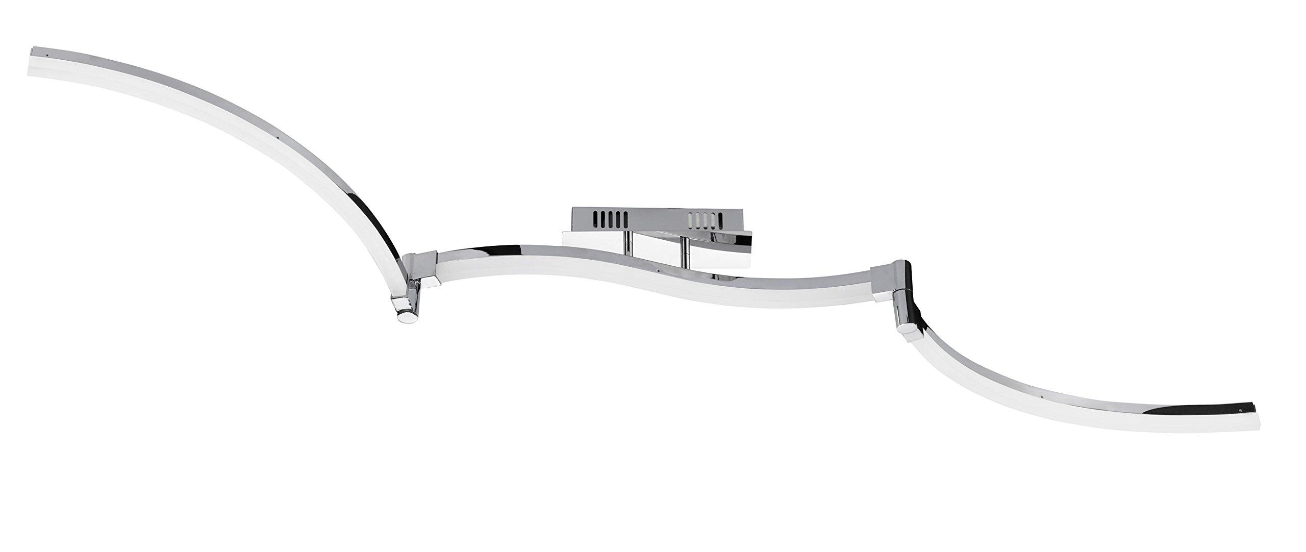 WOFI LED Ceiling Light 8W Built-in Metal 80x 135x 1540cm, Chrome 904703015000
