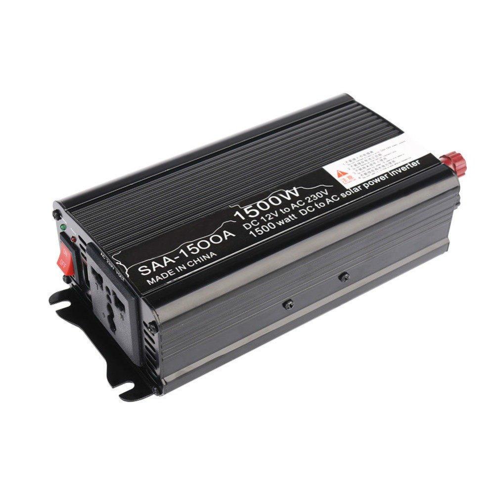 AOSHIKE 1500W Power Inverter Car Inverter DC 12V to 110V AC Modified Sine Wave Converter inverter for Solar car inverter (110V)