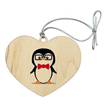 Cartoon Penguin with Bow Tie and Glasses Home Business Office Sign