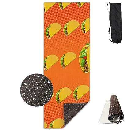 Amazon.com : Mouthdodo Yoga Mat Non Slip Taco Pattern ...