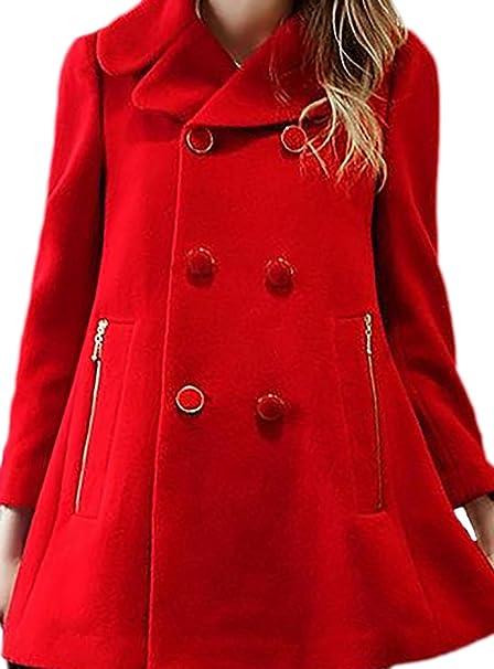 erdbeerloft - Abrigo - Opaco - para mujer rojo L: Amazon.es: Ropa y accesorios