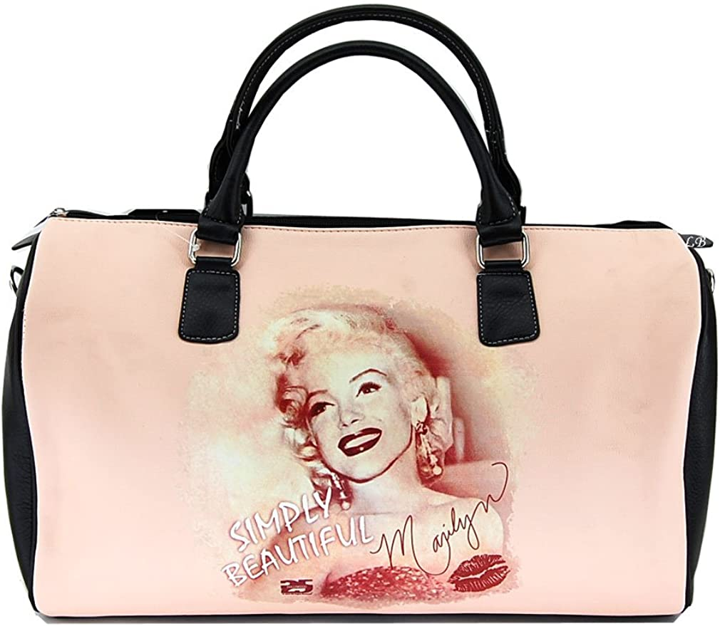 Marilyn Monroe Large Duffel Bag, Simply Beautiful, Plus Keychain, MM995