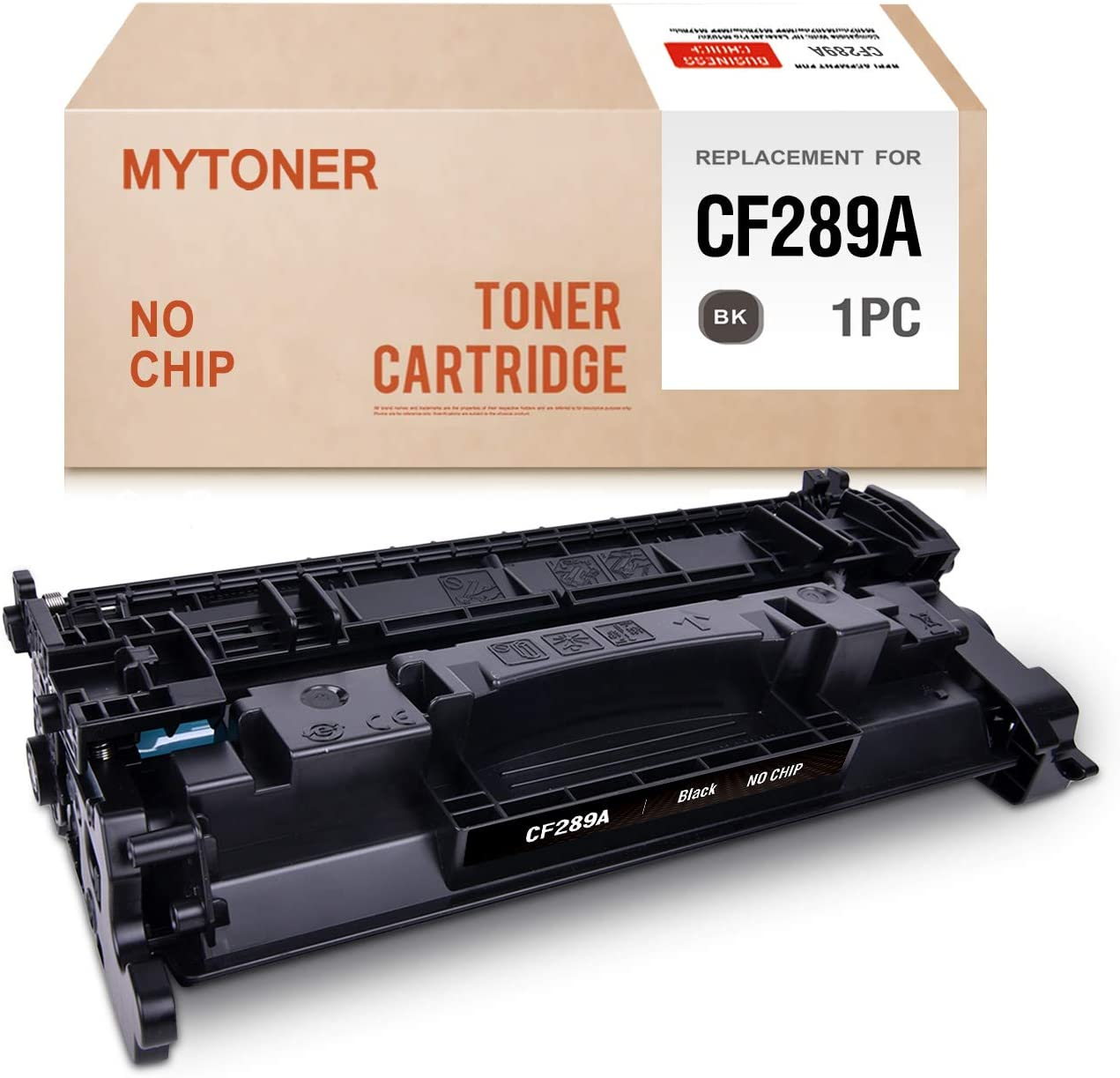 MYTONER (No Chip) Compatible Toner Cartridge Replacement for HP 89A CF289A Toner for for Laserjet Enterprise M507 MFP M528 Series Printer Ink (Black,1-Pack)