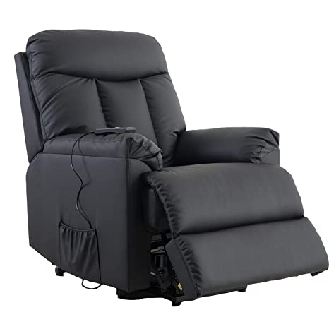Superb Merax Power Lift Chair Recliner Pu Leather Lift Recliner Chair Heavy Duty Steel Reclining Mechanism Black Leather Gmtry Best Dining Table And Chair Ideas Images Gmtryco