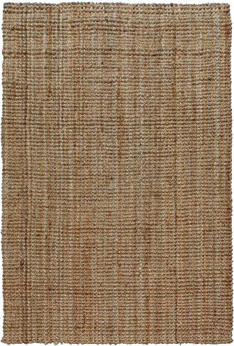 A1HC Hand-Spun Boucle Sand Jute Rug, 8' L x 10' W