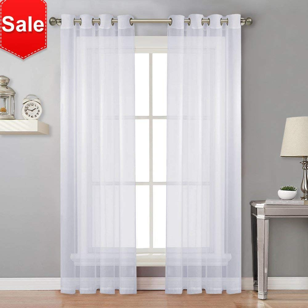 Amazon Com Nicetown Sheer Curtain Panels For Porch Window