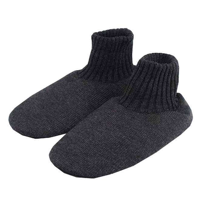 Pantofola pantofola in maglia da uomo invernale antiscivolo 4cbddf800f8