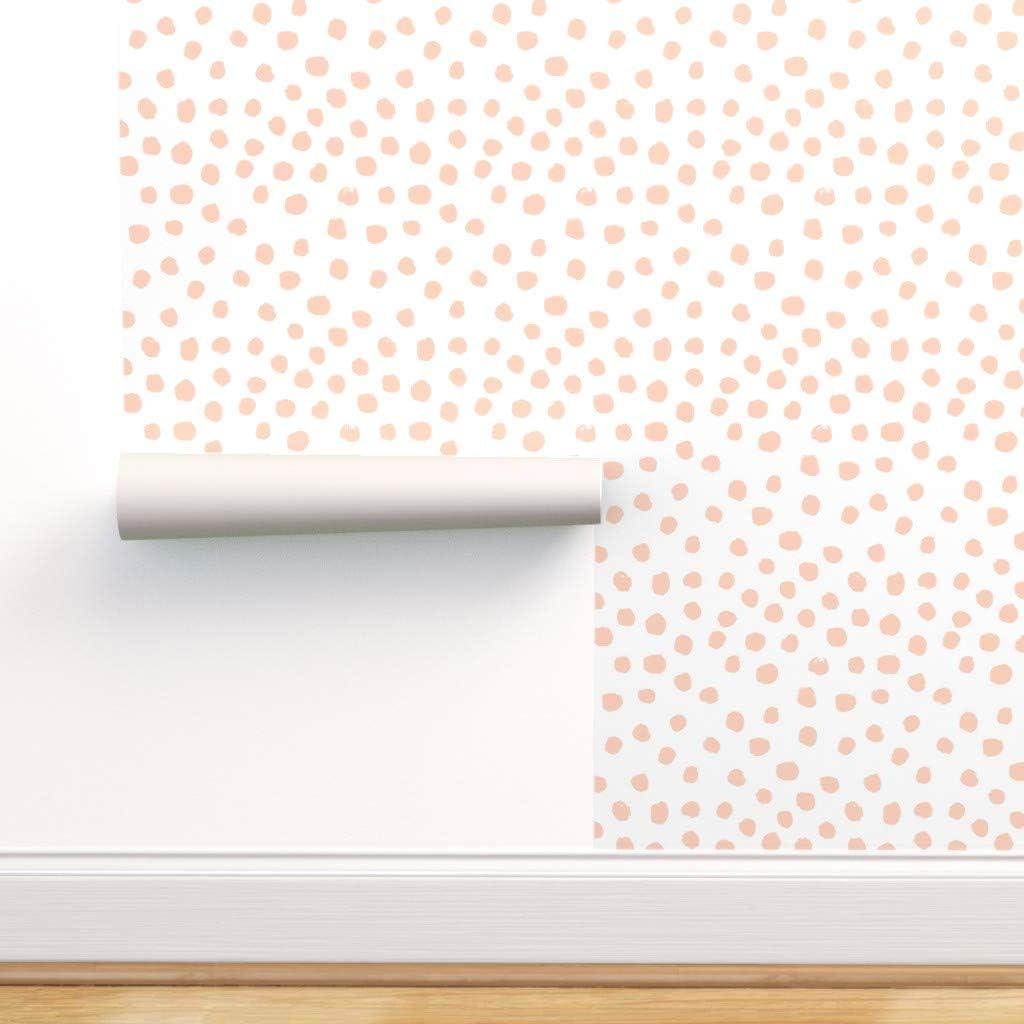 Cute Shabby Chic White Dotty Decor 11810 Powder Blue Polka Dot Wallpaper