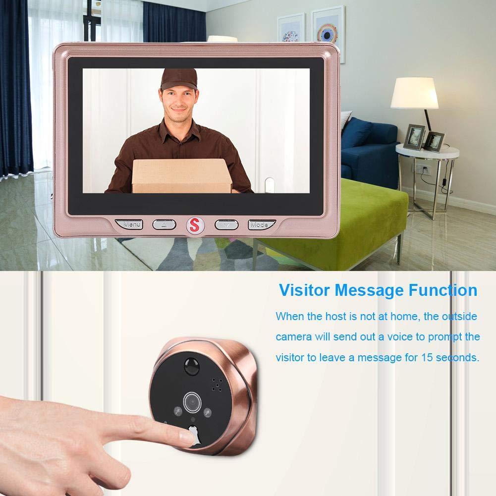 3000MA para el sistema de seguridad del hogar visor de detecci/ón de movimiento electr/ónico con mirilla LCD de 4.3 pulgadas con funci/ón de mensaje Timbre de la c/ámara