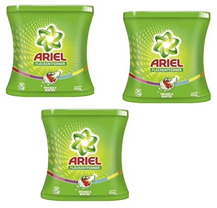 3 x Ariel quitamanchas polvo Weisses & Pegatina, 500 g ...