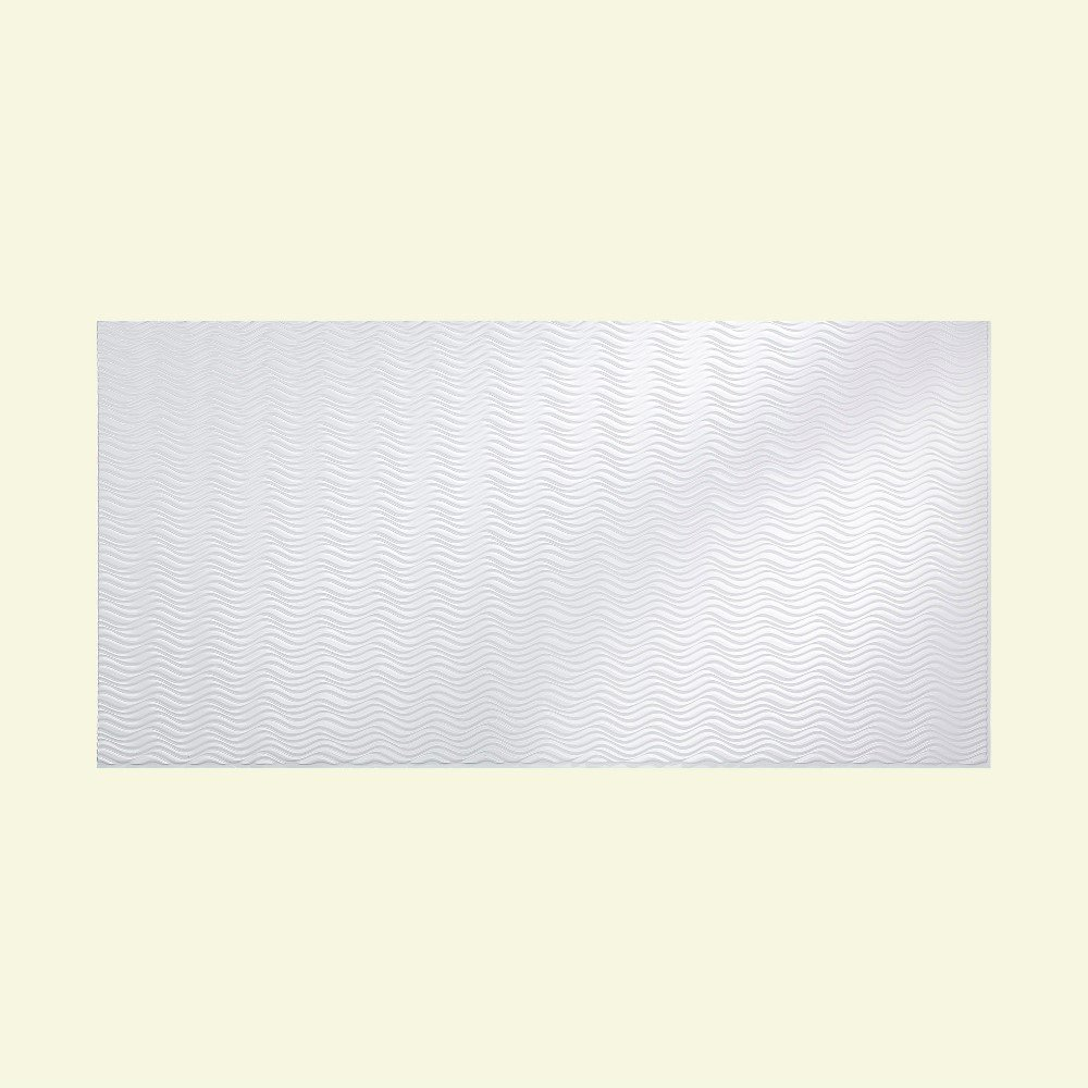 Fasade - Current Horizontal Matte White Decorative Wall Panel - Fast and Easy Installation (4' X 8' Panel)