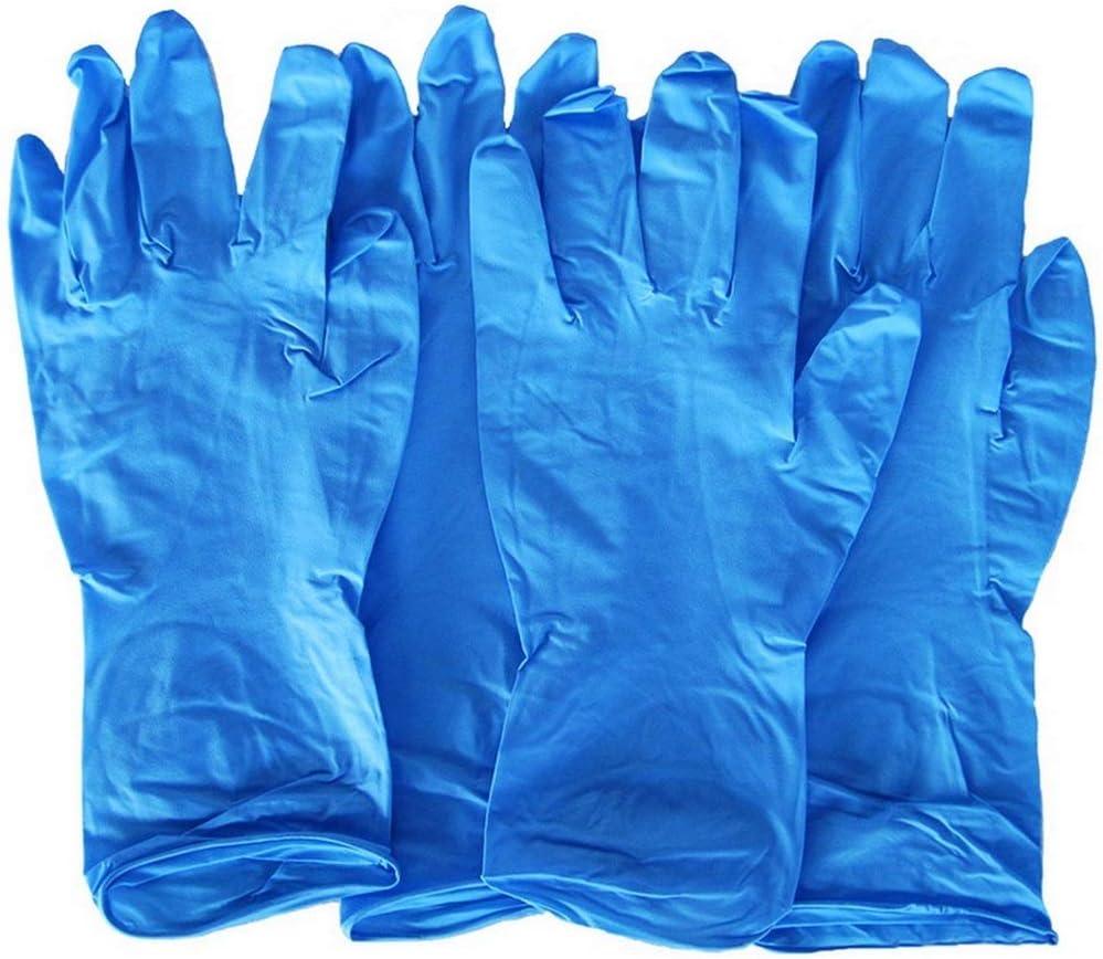 100 Piezas Guantes De L/átex Desechables Guantes De Goma De Nitrilo Guantes De Trabajo De Seguridad C/ómodos Para Hombres Y Mujeres Guantes De Seguridad Suaves Azules S Armada