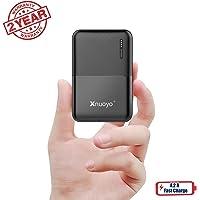 Xnuoyo 10000mAh Mini Power Bank Cargador Portátil Batería Externa Compacta Powerbank de Alta Capacidad con Indicadores LED Entrada & Salida Doble Compatibles con la Mayoría de los Smart Phones