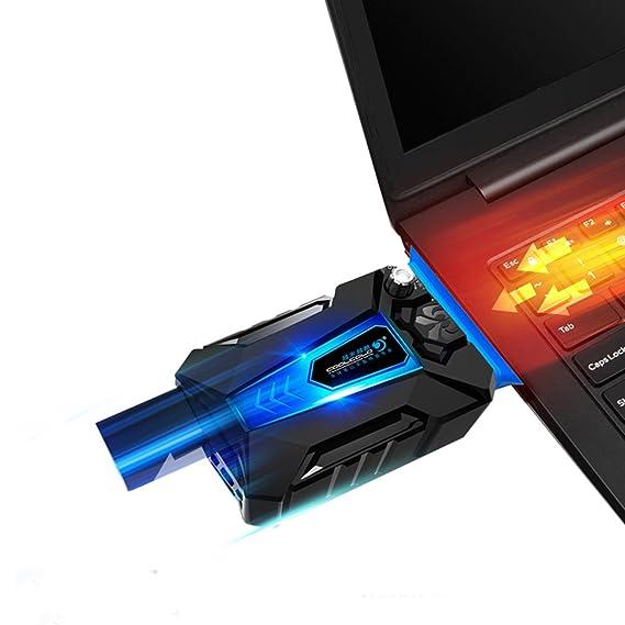 KKmoon Cool Cold portátil ruido bajo para Computer portátil USB Radiador Refrigerador del ventilador de refrigeración con ventilador a vacío para juegos: ...