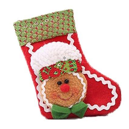 Doitsa Calcetines, Hombre de Jengibre, Clásico Exquisito, Árbol de Navidad Decorado Ventana Cabecera
