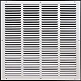 24''w X 24''h Steel Return Air Grilles - Sidewall and Cieling - HVAC DUCT COVER - White [Outer Dimensions: 25.75''w X 25.75''h]