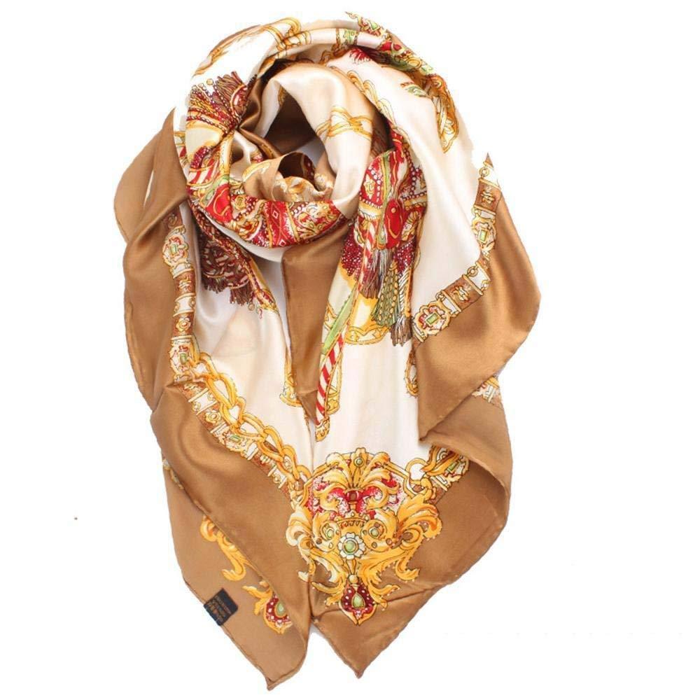 Beige Zhuyuanhai Ladies silk scarf print silk shawl Perfectly expresses unique temperament