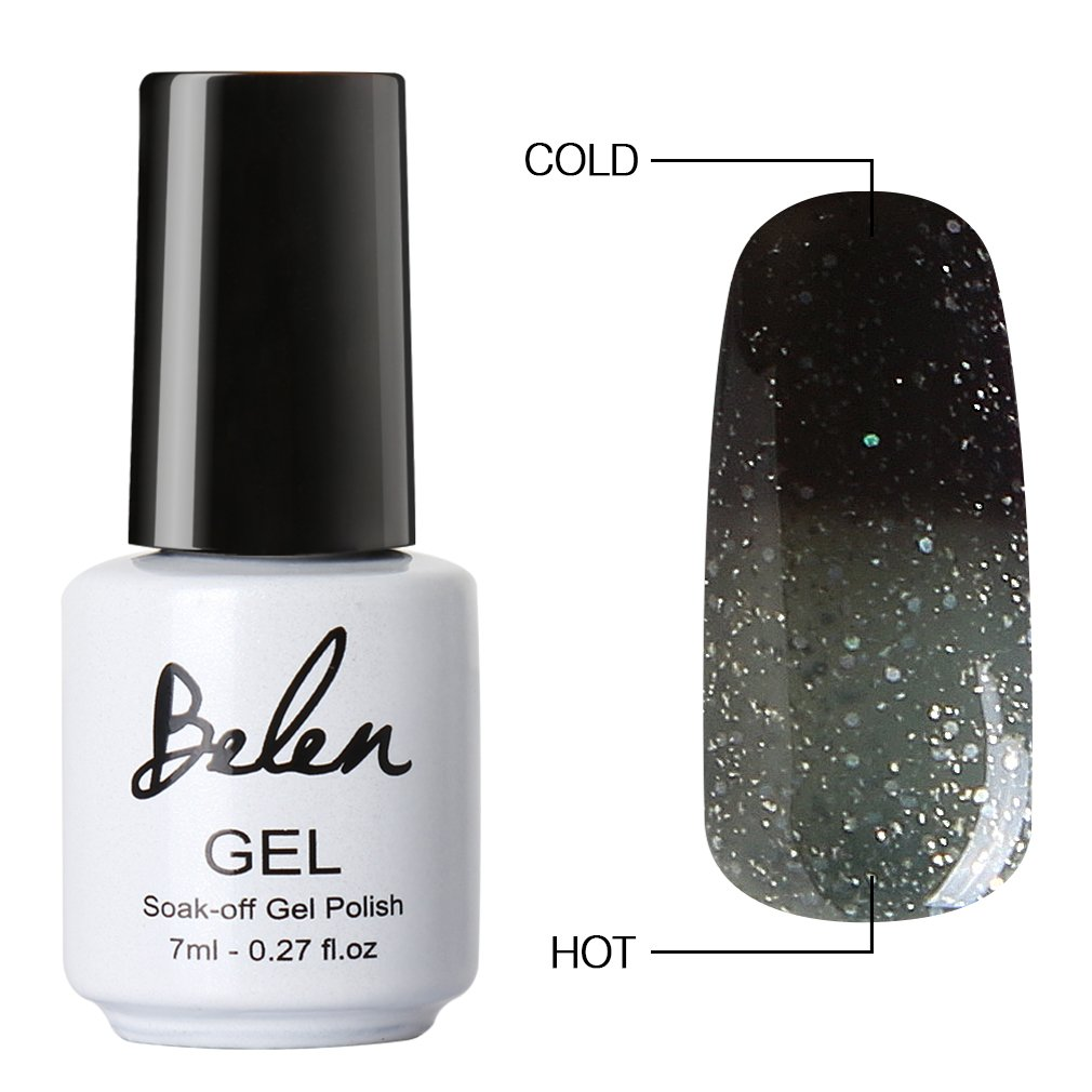 Amazon elite99 thermal temperature color changing gel polish belen chameleon thermal colour changing gel polish soak off nail art manicure 9046 solutioingenieria Choice Image