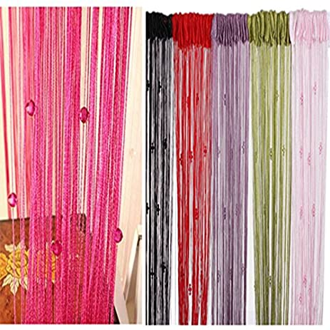 Romatic Beads Design Panel Tassels Curtain Crystal Divider Decoration String Home Door Window Room Valance Drop & Amazon.com: Romatic Beads Design Panel Tassels Curtain Crystal ...