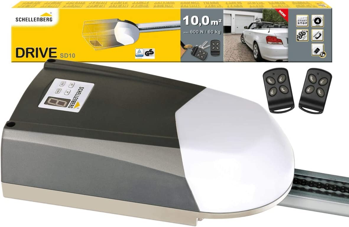 Schellenberg 60910 Motor para Puertas Seccionales de Garaje Smart Drive 10 M², Multicolor, Única