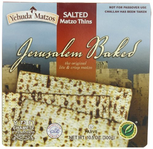 Yehuda Matzo Thins Lightly Salted, 10.5-Ounce (Pack of 6) by (Matzo Thins)