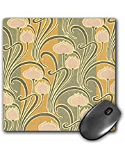 3dRose Abstract White Flowers Vintage Art Nouveau Art - Mouse Pad, 8 by 8 inches (mp_113383_1)